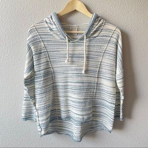 Lucky Brand Terry Drawstring Hooded Top Small